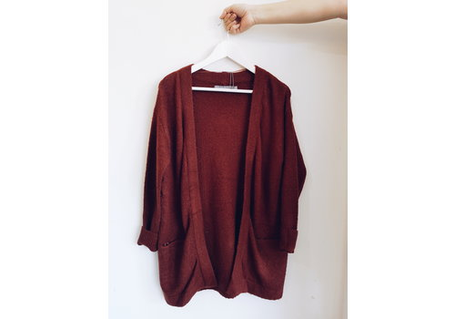 B.YOUNG CARDIGAN MISHA - ROUILLE