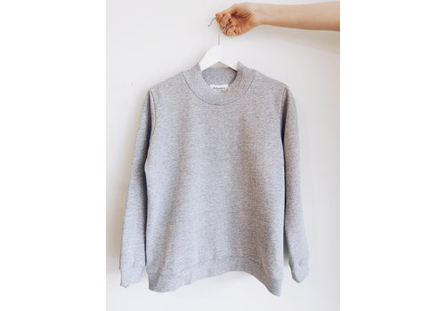 DAILYSTORY CHANDAIL MOCK NECK - GRIS