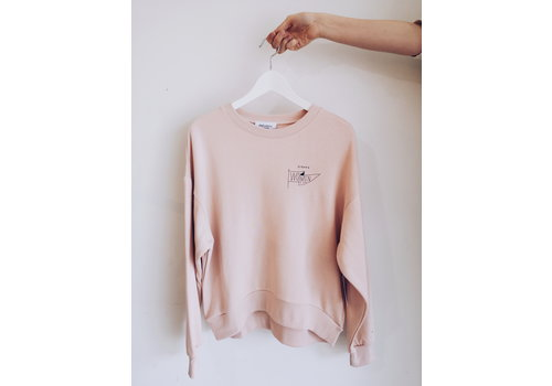 DAILYSTORY CREWNECK STRONG WOMEN - ROSE