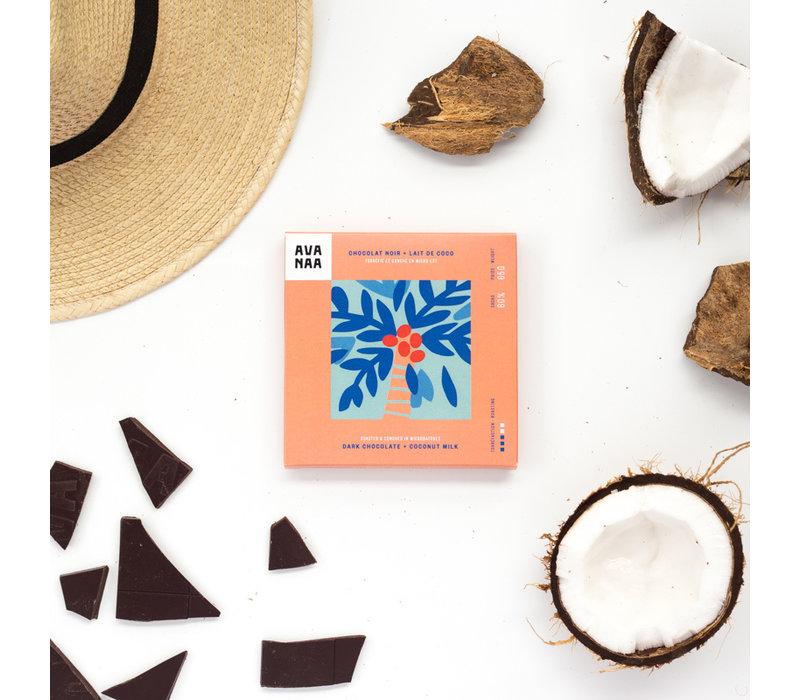 CHOCOLAT NOIR + LAIT DE COCO