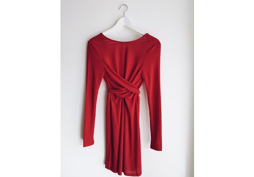 MINKPINK ROBE FAITH - ROUGE