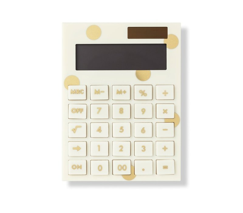 CALCULATRICE EN ACRYLIQUE - GOLDEN DOTS