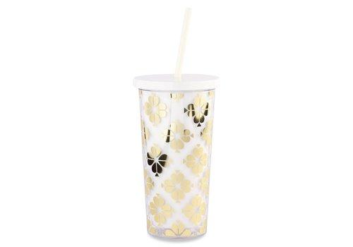 KATE SPADE TASSE À CAFÉ - GOLD SPADE FLOWER