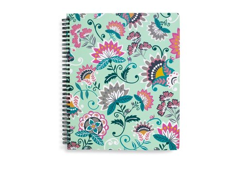 VERA BRADLEY CAHIER DE NOTES - MINT FLOWERS