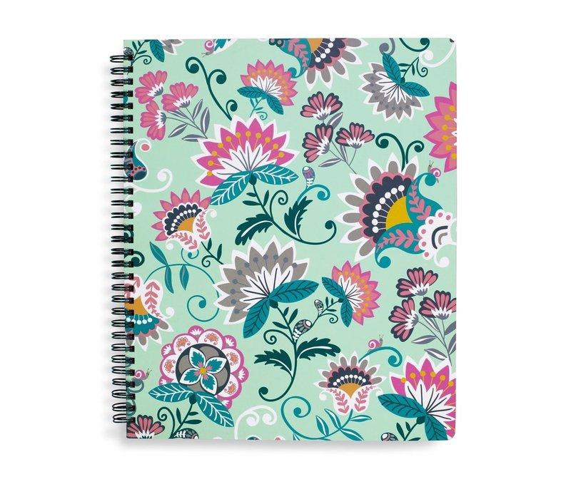 CAHIER DE NOTES - MINT FLOWERS