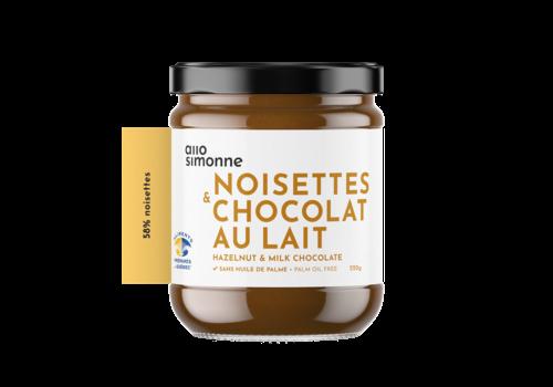 ALLO SIMONNE TARTINADE NOISETTES & CHOCOLAT AU LAIT