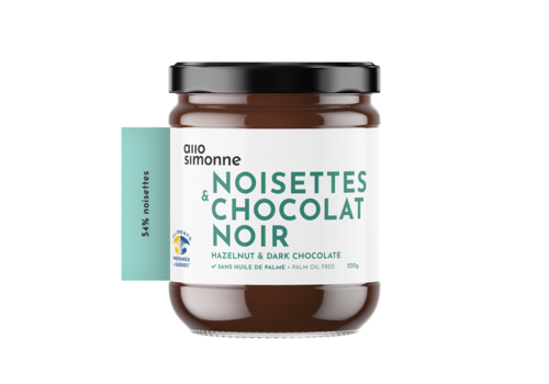 ALLO SIMONNE TARTINADE NOISETTES & CHOCOLAT NOIR