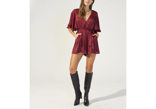 MINKPINK PLAYSUIT IN THE MOMENT - BOURGOGNE