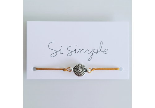 SI SIMPLE BRACELET MANDALA - ARGENT/MOUTARDE