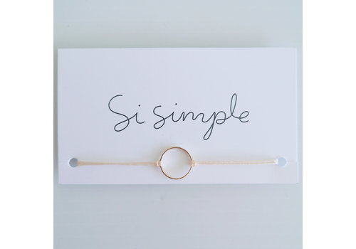 SI SIMPLE BRACELET MARILOU - OR/BLUSH