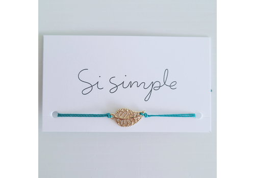 SI SIMPLE BRACELET MIA - OR/TEAL