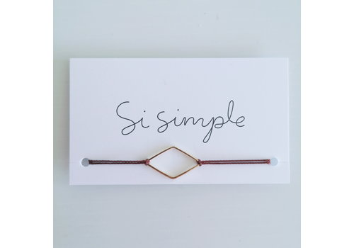 SI SIMPLE BRACELET DIAMANT- OR/BOURGOGNE