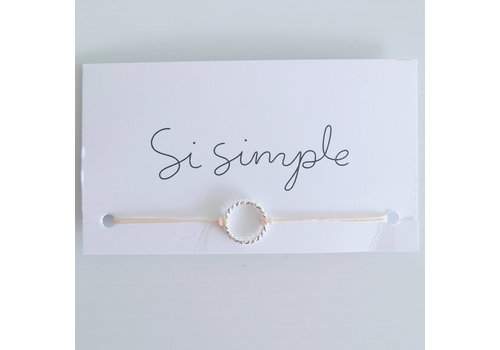 SI SIMPLE BRACELET ISABEL REAL - ARGENT/NATUREL