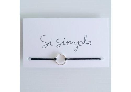 SI SIMPLE BRACELET ISABEL REAL - ARGENT/NOIR