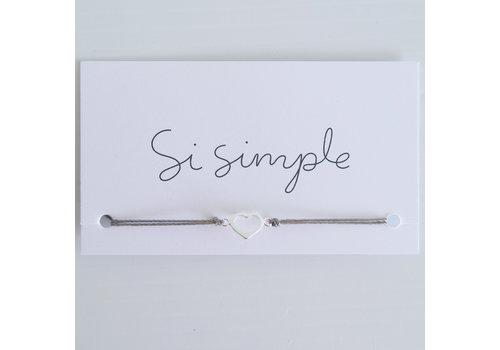 SI SIMPLE BRACELET AIME - ARGENT/TAUPE