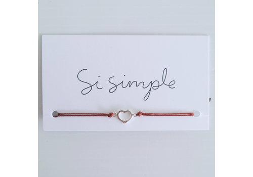 SI SIMPLE BRACELET AIME - ARGENT/SIENNA