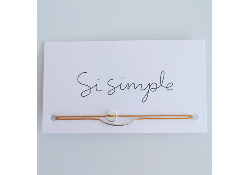 SI SIMPLE BRACELET LUNA - ARGENT/MOUTARDE