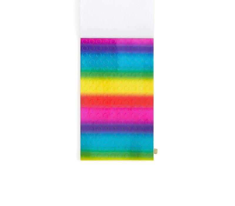 LIVRE D'AUTOCOLLANTS - RAINBOW COLORS