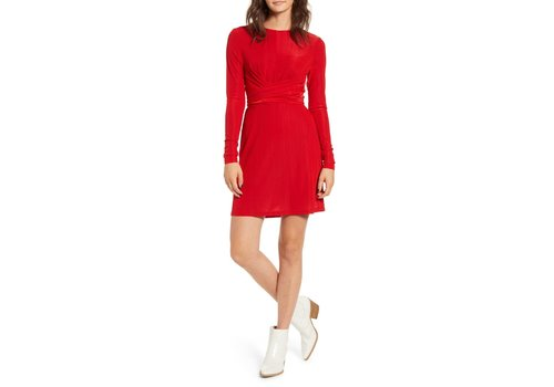 MINKPINK *DERNIÈRE CHANCE* MEDIUM/ROBE FAITH - ROUGE