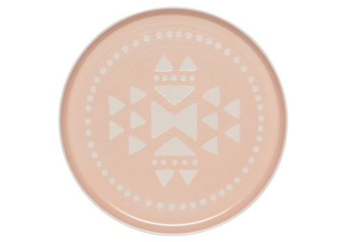 DANICA ASSIETTE IMPRINT - DINNER PINK