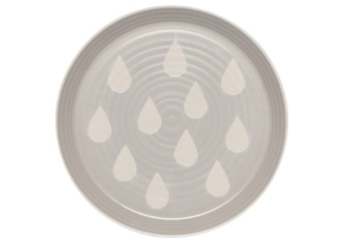DANICA ASSIETTE IMPRINT - SIDE GRAY