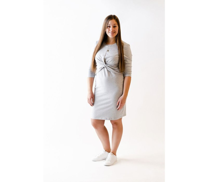 ROBE FIRST KISS NOEUD - GRIS MIX
