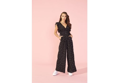 MINKPINK JUMPSUIT ME AND YOU - NOIR ET BLANC