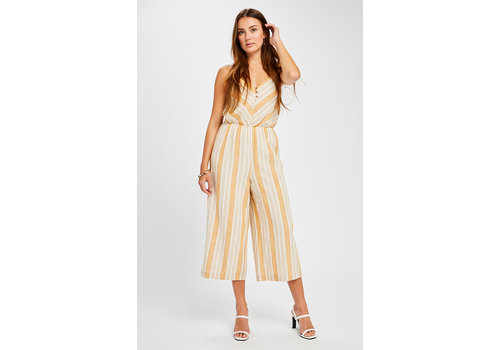 GENTLE FAWN SMALL - DERNIÈRE CHANCE - JUMPSUIT LOWE - MOUTARDE RAYÉ