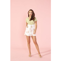 SHORT TROPIC DREAMING - BLANC MULTI