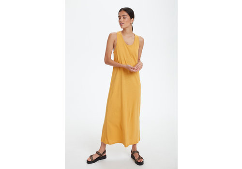 SOAKED IN LUXURY LARGE - DERNIÈRE CHANCE - ROBE LINENA - JAUNE