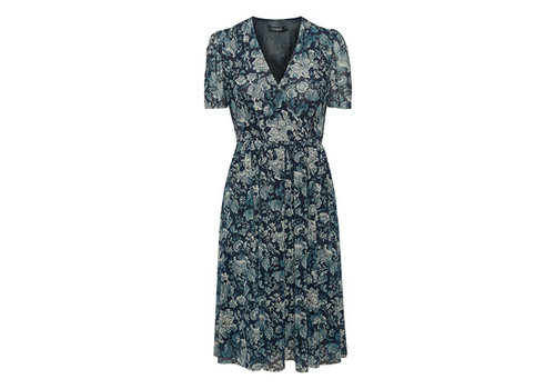 SOAKED IN LUXURY MEDIUM - DERNIÈRE CHANCE- ROBE TAPPIE - BLEU NUIT