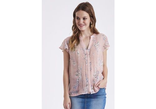B.YOUNG BLOUSE GRACIE - ROSE FLEURI