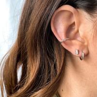 EAR CUFF TWISTÉ ARGENT