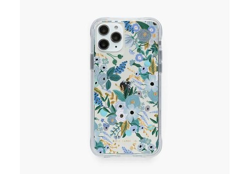 RIFLE PAPER CO ÉTUI IPHONE 11 PRO - CLEAR GARDEN PARTY BLUE