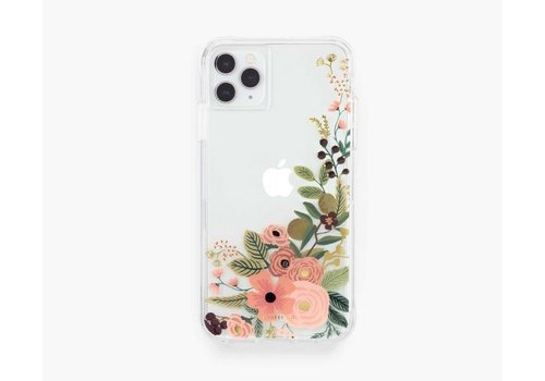 RIFLE PAPER CO ÉTUI IPHONE 11 PRO X-XS - CLEAR GARDEN PARTY ROSE