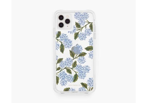 RIFLE PAPER CO ÉTUI IPHONE 11 PRO X-XS - CLEAR HYDRANGEA BLUE