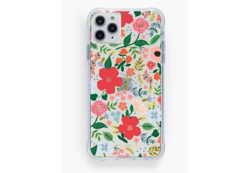 RIFLE PAPER CO ÉTUI IPHONE 11 PRO MAX-XS - CLEAR WILD ROSE