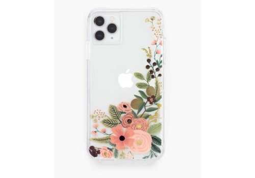 RIFLE PAPER CO ÉTUI IPHONE 11-XR - CLEAR GARDEN PARTY ROSE