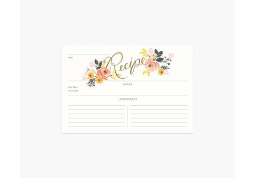 RIFLE PAPER CO CARTE RECETTE (PAQUET 12) - PEONY