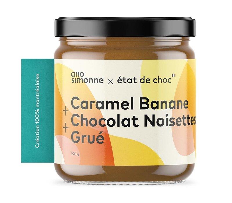 TARTINADE CARAMEL BANANE, CHOCOLAT NOISETTE & GRUÉ