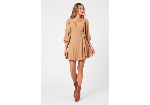 MINKPINK ROBE MINI WRAP - BRUNE