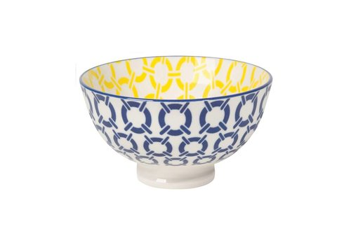 DANICA BOWL STAMPED BLUE NAUTICAL