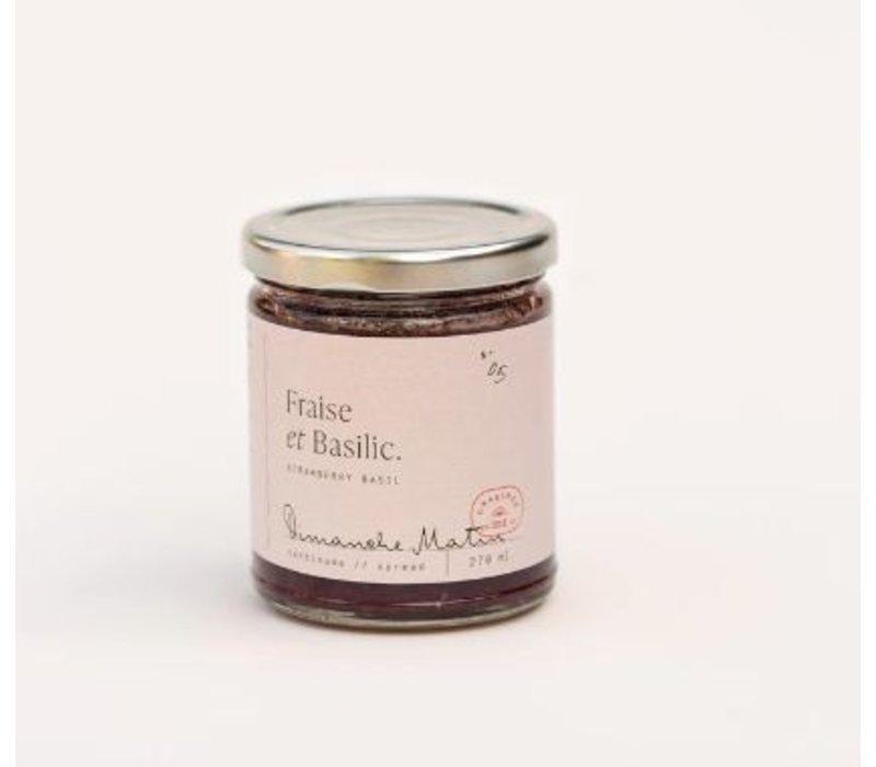 TARTINADE FRAISE & BASILIC