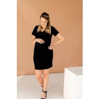 ROBE INTRIGUE VELOURS - NOIR