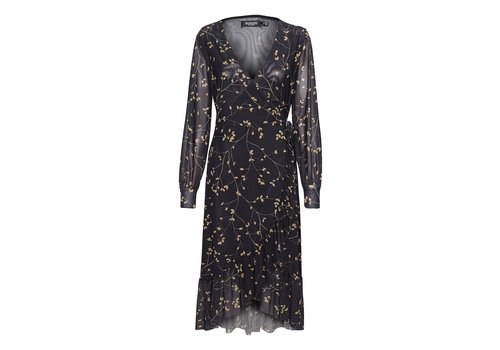 SOAKED IN LUXURY ROBE CONSUELA - BRINDILLE FEUILLUE NOIR