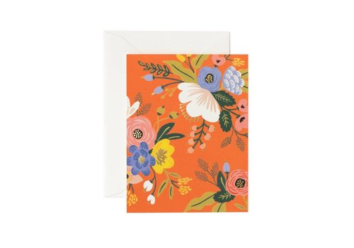 RIFFLE PAPER CO. CARTE LIVELY FLORAL RED