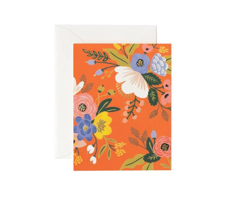 CARTE LIVELY FLORAL RED