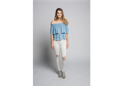 MINKPINK *DERNIÈRE CHANCE* OFF SHOULDER SERENE SKIES SMALL