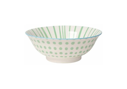 DANICA BOWL STAMPED JADE DOTS