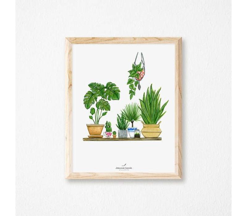 AFFICHE 8X10 PLANTES VERTES